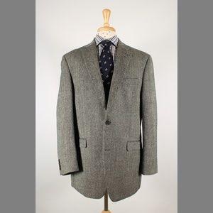 #RalphLauren 44L Herringbone 2B Sport Coat 73-K